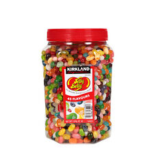 1.8KG KIRKLAND SEALED JAR  SWEETS JELLY BELLY BEANS 45 DELICIOUS FLAVOURS