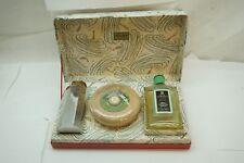 VINTAGE SHAVING BOWL SOAP AFTERSHAVE TALC YARDLEY OF LONDON BOXED SET 3 PC BOX