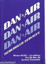 Airline Timetable - Dan-Air - 28/10/84 - 1st Edition - System - S