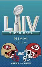 SUPER BOWL 54 LIV Kansas City Chiefs San Francisco 49ers Flag 3x5 Banner Miami