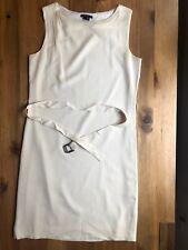 Theory Silk White Dress with Belt