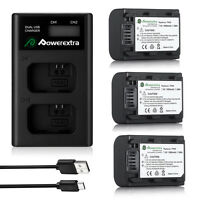 NP-FW50 Battery & LCD Dual USB Charger For Sony Alpha A6000 A3000 A5000 A6300 A7