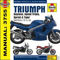 Triumph Daytona 955i Sprint Speed Triple Tiger T509 T595 Haynes Manual 3755 NEW