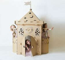 Cardboard Magic Castle. Princess Castle Playhouse. Castle Play House.