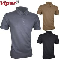 VIPER TACTICAL POLO SHIRT MENS S-3XL FAST WICKING SWEAT TOP T-SHIRT ARMY FISHING