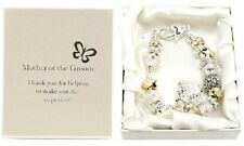 Amore Silver Gold Bead Charm Bracelet Mother Of The Groom