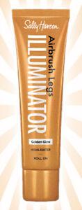 Sally Hansen Airbrush Legs Illuminator Golden Glow Highlighter Roll On 3.3 OZ