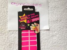 GLOW PINK GLOW IN THE DARK NAIL WRAPS 12 STRIPS NEON PINK