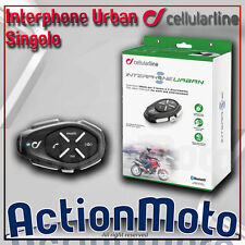 CELLULAR LINE INTERPHONE URBAN SINGOLO INTERFONO MOTO SCOOTER BLUETOOTH