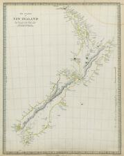 NEW ZEALAND. Maori names. Tavai Poenammoo Eaheinomauwe SDUK 1844 old map