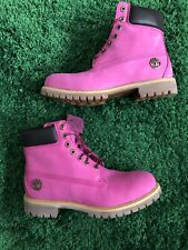 "Timberland Mens 6"" Waterproof Boots (Size 10.5) Pink Breast Cancer Susan G Komen"