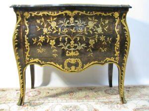 John Widdicomb Louis XV Parcel-Gilt and Lacquered Tortoiseshell Chest/Commode