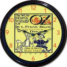 Wonderful Wizard of Oz Book Cover L Frank Baum Wall Clock Tinman Scarecrow New