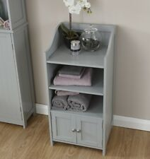 Colonial Bathroom Cupboard Storage Unit 2 Door Bath Cupboard 3 Shelf - Grey