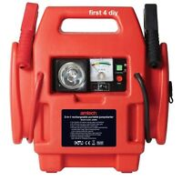 HEAVY DUTY 12V 600A PORTABLE AIR COMPRESSOR JUMP STARTER BATTERY BOOSTER LEADS