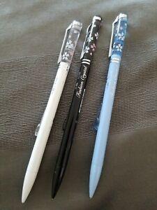 3pc 0.5 Lead Mechanical Pencil - White, Black, Blue - Fashion Crystal Design