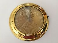 LED Dome light 12V Interior Brass 140MM Boat Chandlery/Canal Boat/Narrow Boat