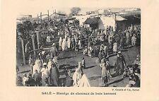 CPA MAROC SALE MANEGE DE CHEVAUX DE BOIS HASSANI (JEUX DE FOIRE FORAINE