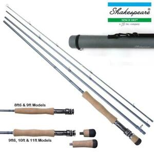 Superb Value SHAKESPEARE AGILITY II 4pc Trout Fly Rods 9ft - 10ft + Cordura Tube