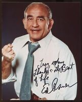 """Ed Asner Signed 8x10 Photo Autographed Inscribed """"To Troy"""" Vintage Signature"""