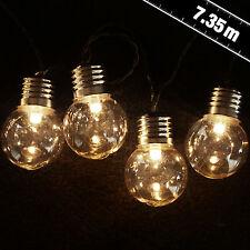 50 LED Warm White Retro Lights - festoon, indoor, outdoor, party, bulb, fairy li
