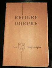 CATALOGUE OUTILS POUR RELIEUR RELIURE DORURE MAISON ROUGIER & PLE 1974