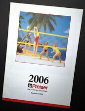 """Preiser Prospekt """"Neuheiten 2006"""", DIN A4, 12 Seiten, Neu!"""