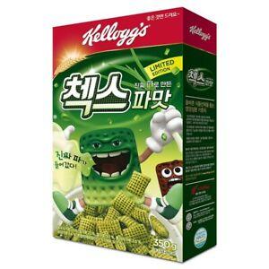 Kellogg's Cereal Scallion CHEX CHECKS Spring Green Onion Parmat MUKBANG