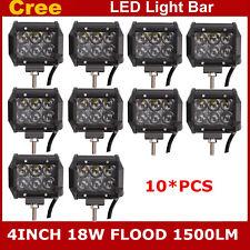 "10X 4"" 18W 4D Cree LED Work Light Bar Flood Offroad 4WD UTE SUV Fog Driving Lamp"