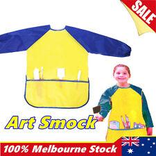 Kids Art Smock Waterproof Apron Long Sleeve Painting Craft Cooking Girls Boys