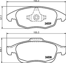 Mintex Front Brake Pad Set MDB2890  - BRAND NEW - GENUINE - 5 YEAR WARRANTY