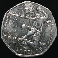 2011 | Elizabeth II London 2012 'Handball' 50p | Cupro-Nickel | KM Coins