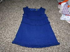 ZARA KIDS 3-4 104  BLUE TWEED DRESS