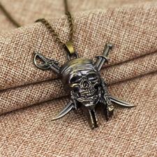 Halskette Fluch der Karibik Totenschädel Jack Sparrow Farbe Bronze