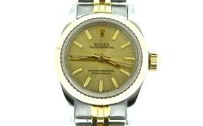 Ladies Rolex 2Tone 18k Gold/Steel Oyster Perpetual Watch Champagne 67193