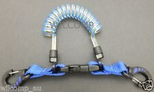 WILCOMP Scuba Diving Spring Coil Lanyard with Clips WIL-LE-02TBl