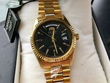 NIB! Orient President RARE GOLD W/Black DIAL Day Date Datejust Homage Watch NEW!