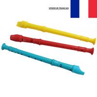 Flûte à Bec en Plastique 30 cm Instrument à Vent 3 Couleurs Enfant