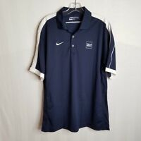Nike Golf Dri Fit Wells Fargo Mens Short Sleeve Polo Shirt Size Medium - A411