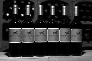 Ausnahmsweise Schwarz-Weiss: 12 Flaschen Baron de Pierre Merlot, Fruchtgenuß pur