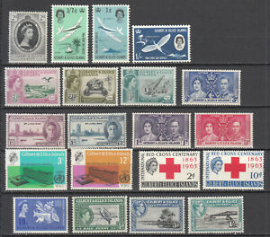 Gilbert & Ellice Islands - small stamp lot - MNH/MH (7885)