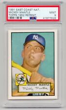 MICKEY MANTLE 1991 East Coast National (1952 Topps Rookie) Yankees Reprint PSA 9
