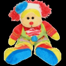 "SKANSEN BEANIE KID ""CHUCKLES"" THE CLOWN BEAR MINT WITH MINT TAG"