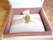 Genuine Authentic Pandora 14ct Gold Abstract Gold Spacer Charm 750824 G585 ALE