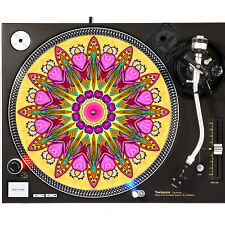 Portable Products Dj Turntable Slipmat 12 inch - Psychedelic Monster Heart