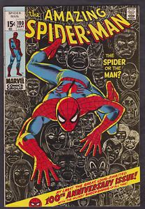 The Amazing Spider-Man #100 September 1971 Fine/Veryfine 100th Anniversary Issue