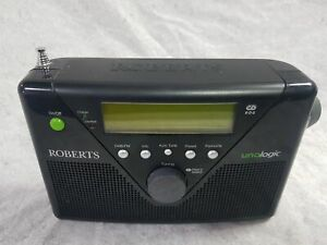 Roberts Uno Logic Black Portable DAB Radio (MAIN UNIT ONLY)