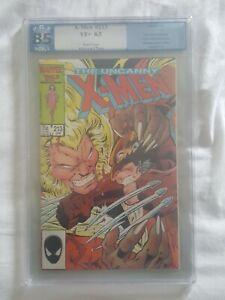 Uncanny X-Men 213 (1986) PGX 8.5 1st cameo Mr. Sinister Wolverine vs Sabertooth|