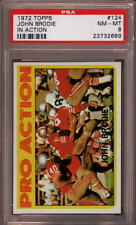 1972 TOPPS # 124 JOHN BRODIE ☆IN ACTION☆ SAN FRANCISCO S.F. SF 49ERS PSA 8 NM-MT