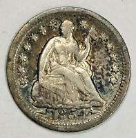 1854 O Liberty Seated Half Dime 5c Extremely Fine (XF) w/ Arrows Beautiful Tone